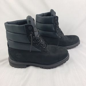 Timberland Men's Black Puffer Boots Size 9.5